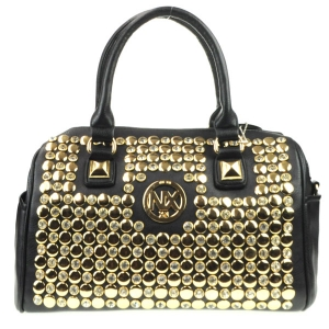Rhinestone Studded NX Bag CHO 30987 BLACK