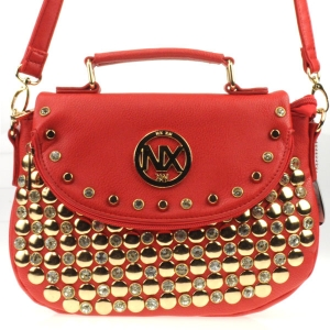 Rhinestone Studded Messenger CHO 30992 RED