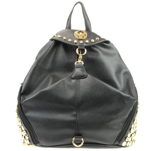 NX Rhinestone Studded Sides Backpack CHO 31002 BLACK