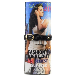 Fashion Night Out Magazine Clutch X18 31033 BLACK
