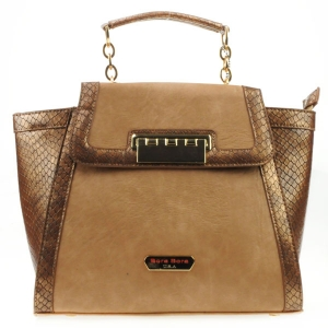 Bora Bora Alligator Winged Satchel X32 31099  BRONZE