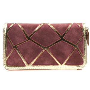 Suede Patch Wallet X17 31205 BERRY