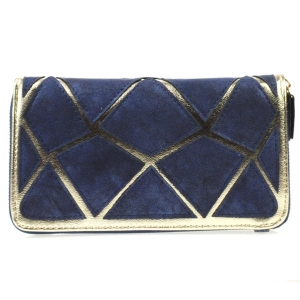 Suede Patch Wallet X17 31205 NAVY BLUE