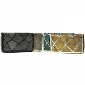 12-Pack Suede Patch Wallet Combo - Assorted Colors