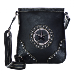 Star Accent Western Messenger X12 31220 BLACK