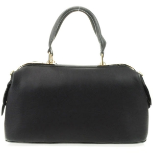 Metal Plated Top Satchel X14 31270 BLACK