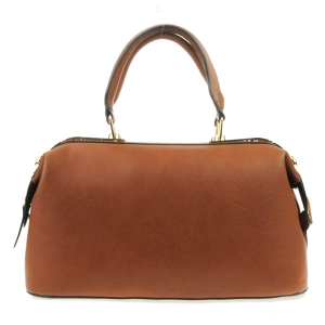 Metal Plated Top Satchel X14 31270 COFFEE