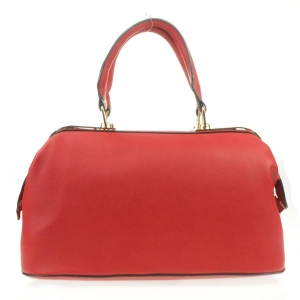 Metal Plated Top Satchel X14 31270 RED