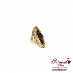 Leopard Accent Ring Stretch Fit