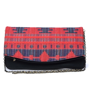 Urban Expressions Leona Print Clutch 10120-ur UE 31334 RED NAVY