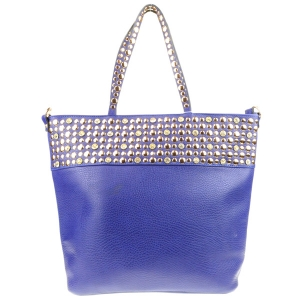 Rhinestone and Studs Top Tote Bag X24 31349 ROYAL BLUE
