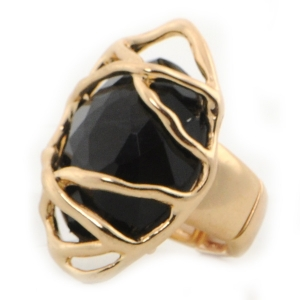 Gold Wrapped Ring X37 31376 BLACK