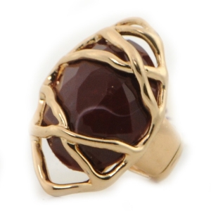 Gold Wrapped Ring X37 31376 BROWN