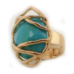 Gold Wrapped Ring X37 31376 TURQUOISE