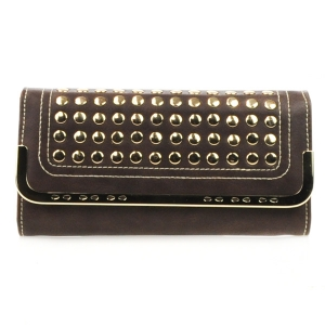 Studded Wallet X27 31387 COFFEE