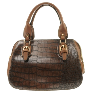 Belt Handle Alligator Satchel X42 31430 BROWN