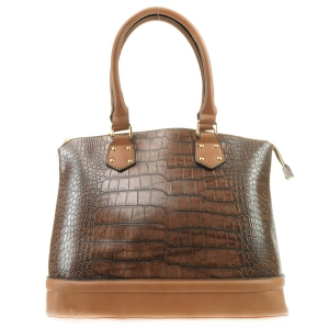 Alligator Two Tone Tote X42 31433 BROWN