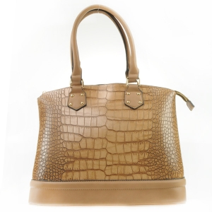 Alligator Two Tone Tote X42 31433 STONE