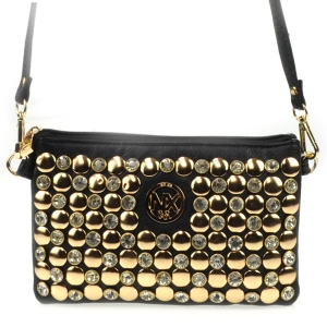 Small Rhinestone Mesenger Bag CHO 31503 BLACK