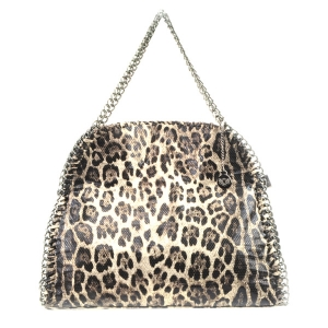 Leopard Snake Skin Fold-able Handbag X24 31632 COFFEE