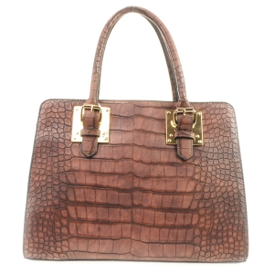 Alligator Vegan Handbag X35 31640 COFFEE