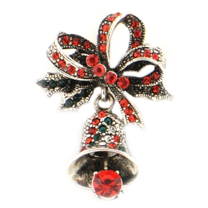 Christmas Bell Brooch X26 31649 RED