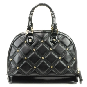 Rhinestone Quilted Look Handbag X42 31727 BLACK