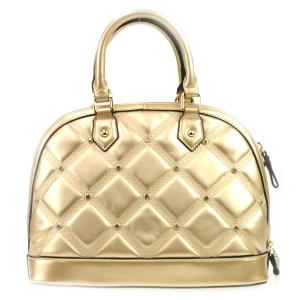 Rhinestone Quilted Look Handbag X42 31727 GOLD