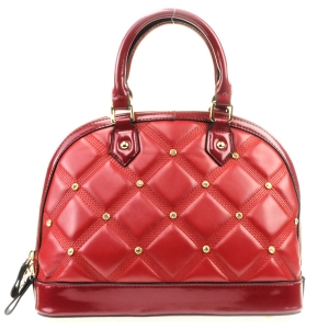 Rhinestone Quilted Look Handbag X42 31727 RED