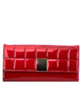 Faux Leather Clutch Purse TW0012 31742 RD Maroon Red