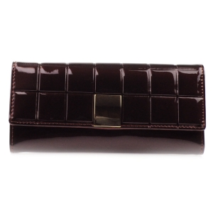 Square Pattern Patent Wallet X27 31742 BROWN