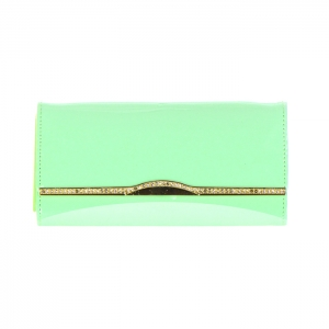 Patent Gold Accented Flap Wallet X27 31745 Mint