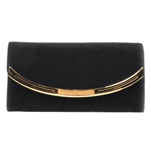 Gold Accented Wallet X10 31769 BLACK