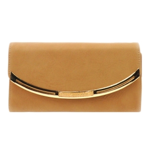 Gold Accented Wallet X10 31769 PEWTER BEIGE