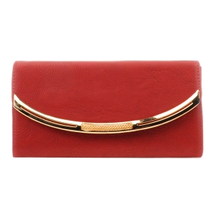 Gold Accented Wallet X10 31769 RED