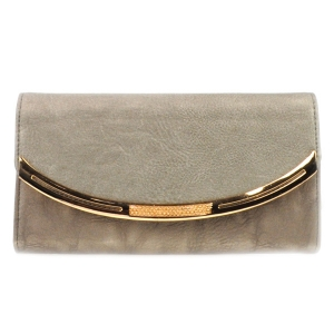 Gold Accented Wallet X10 31769 TAUPE