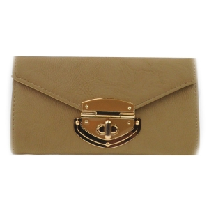 Twist Lock Accented Wallet X10 31775 TAUPE