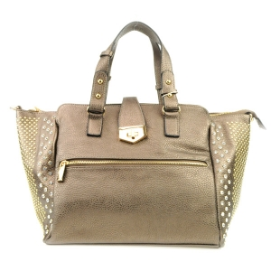Studded Sides Large Tote X24 31787 DARK SILVER