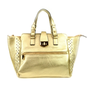 Studded Sides Large Tote X24 31787  LIGHT GOLD