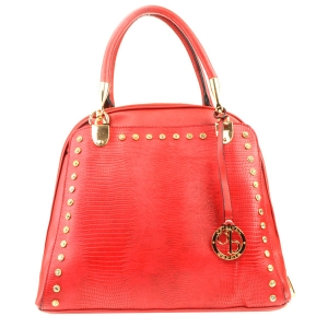 Studded Tall Tote X33 31793 RED