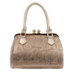 Engraved Pattern Handbag X36 31874 PEWTER