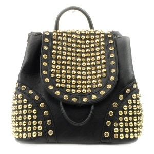 Rhinestone Studded Backpack X36 31924 BLACK