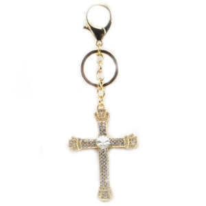 Jeweled Cross Key Chain X26 31941