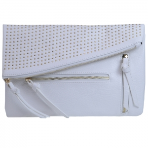 Urban Expressions Pin Stud Jess Clutch 10359 - White