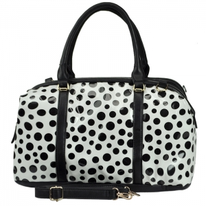 David Jones Polka-dotted Handbag with Strap - White