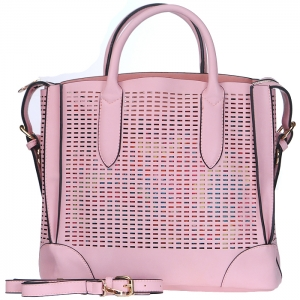 Handbag Republic Rectangle Shaped Perforations Tote Bag - Pink