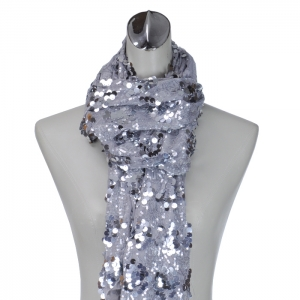 Medium Sized Sequence Accent Scarf - Silver