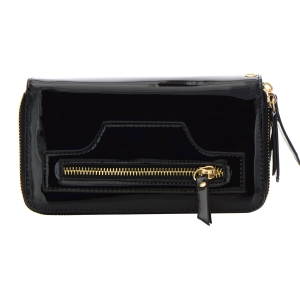 Patent Leather Wallet 32299 - Black