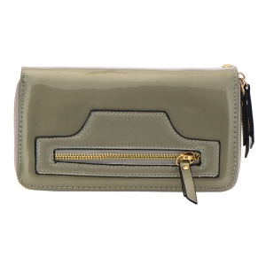 Patent Leather Wallet 32299 - Gray