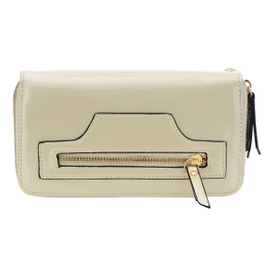 Patent Leather Wallet 32299 - Pearl